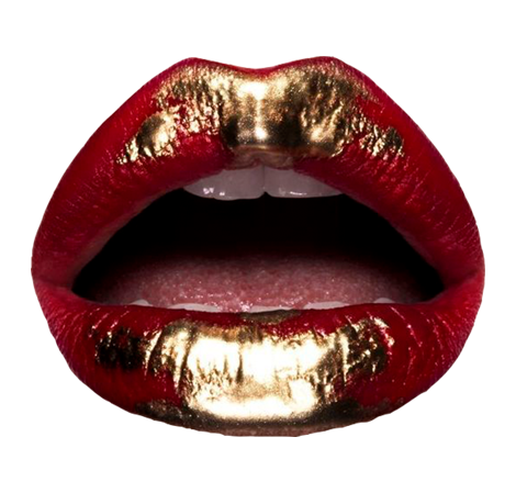 2. I SEARCHED AND CROPPED ARTISTIC LIPS ART FROM  MAKE-UP ARTISTS. WHICH I THEN ADDED IN THE DESIGN COMPOSIITON AND USING THE BLEND TOOL I MADE IT FEEL LIKE IT IS NOT JUST A CROPPED ELEMENT , BUT INSTEAD IT LOOKS LIKE IT IS PART OF THE COMPOSITION.