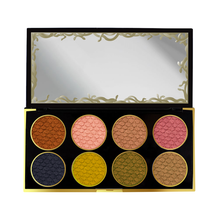 Palette open showing the colours available-mostly gold inspired